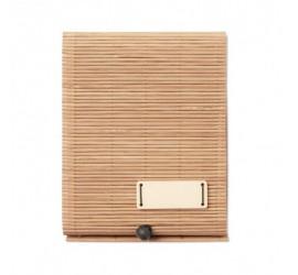 Bambusowy notatnik z długopisem