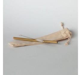 Słomki z bambusa z czyścikiem