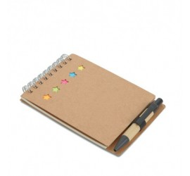 Notes z długopisem i karteczkami samoprzylepnymi