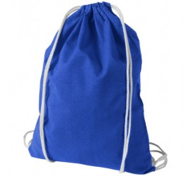 Niebieski plecak z bawełny