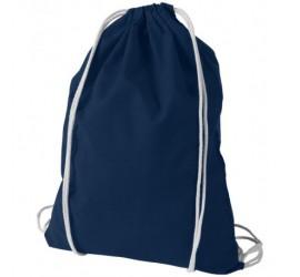Granatowy plecak z bawełny