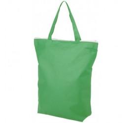 Zielona, zapinana torba na zakupy
