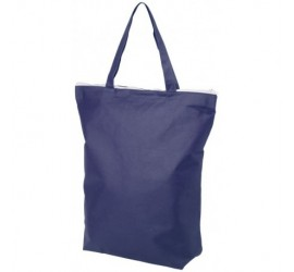 Niebieska, zapinana torba na zakupy