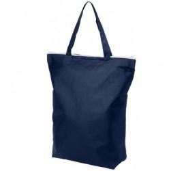 Granatowa, zapinana torba na zakupy