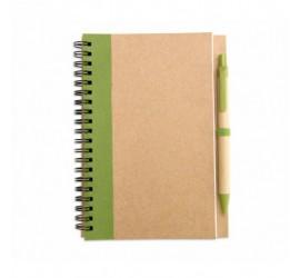Notes na spirali z długopisem