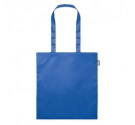 Torba na zakupy z przetworzonego plastiku niebieska