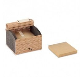 Szkatułka bambusowa z karteczkami z recyklingu